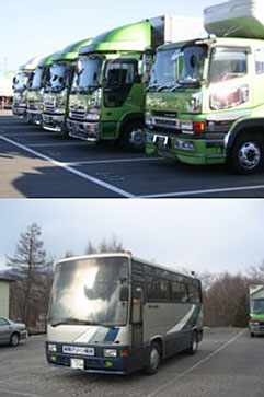 輸送事業・レンタカー事業 群馬グリーン配送|群馬県嬬恋村の運送業。キャベツ等の青果物、チルド品輸